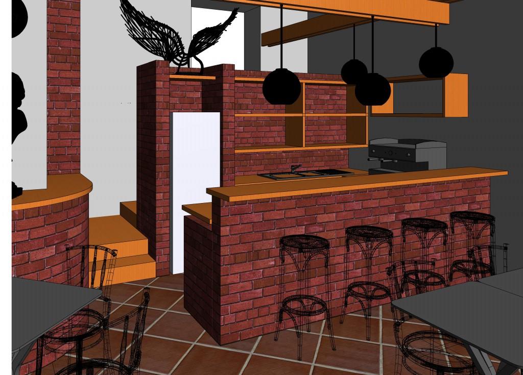Architektonická studie kavárny