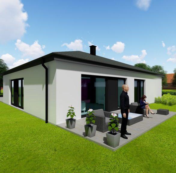 projekt bungalovu 4+1 hotový projekt