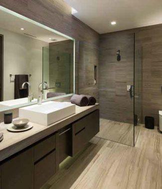 návrh interiéru koupelny, rozmístění zařizovacích předmětů, interiér, návrh bytu