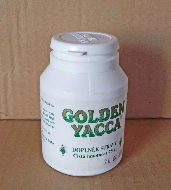 GOLDEN YACCA je přírodní rostlinný produkt obsahující steranové a terpenové saponiny, které se získávají šetrnou technologií z rostliny Yucca Schidigera. GOLDEN YACCA je doplněk stravy, nejedná se o lék. Saponinové složky v rostlině Yucca Schidigera snižují povrchové napětí všech sedimentů a škodlivých elementů v krvi, rozřeďují je a tímto způsobem napomáhají k jejich odstraněni z lidského těla, tedy napomáhají k detoxikaci organismu