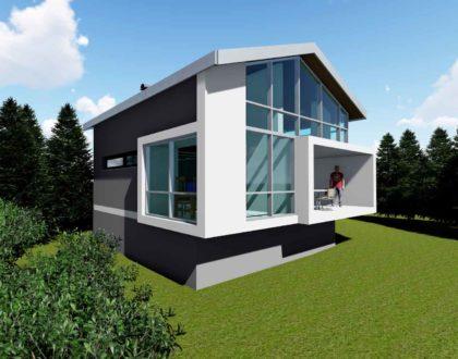 Projekt chaty, projekt rekreačního domku, projekt domku, domu